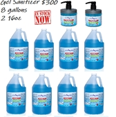 Cosmo Hand Cleaner (Sanitizer) GEL, 8 Gallons- 2 16oz