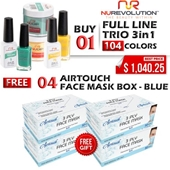 NuRevolution 3in1 Dipping Powder + Gel Polish + Nail Lacquer, Full Line Of 104 Colors (from 001 To 104)
