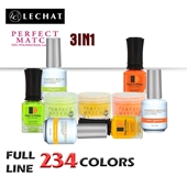 Lechat Perfect Match 3in1 Dipping Powder + Gel Polish + Nail Lacquer, Full Line Of 234 Colors (from PMDP001 To PMDP234