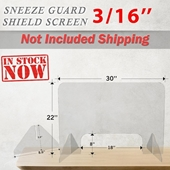 Table Sneeze Guard Clear Safety Thickness 3/16''