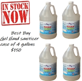 Cosmo Hand Cleaner (Sanitizer) GEL, 4 Gallons