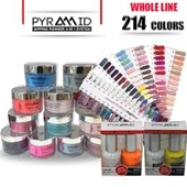Pyramid 3 In1 Dipping Powder + Gel Polish + Nail Lacquer, Full Line Of 214 Colors (From 301 To 504, NE41 To NE50)